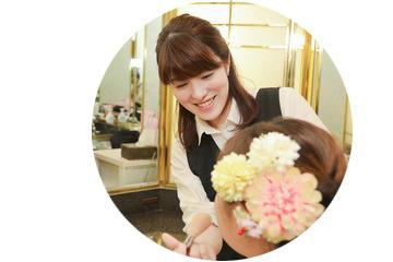 フォトスタジオの美容師